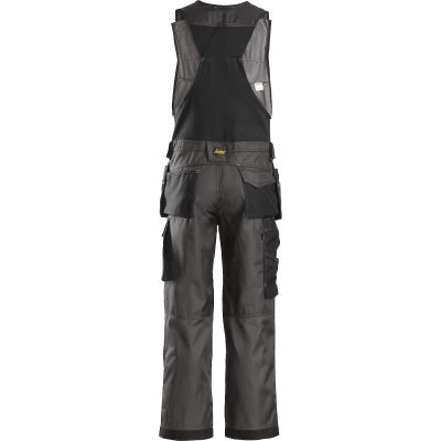 SNICKERS Workwear Hi-Vis полукомбинезон с навесными карманами