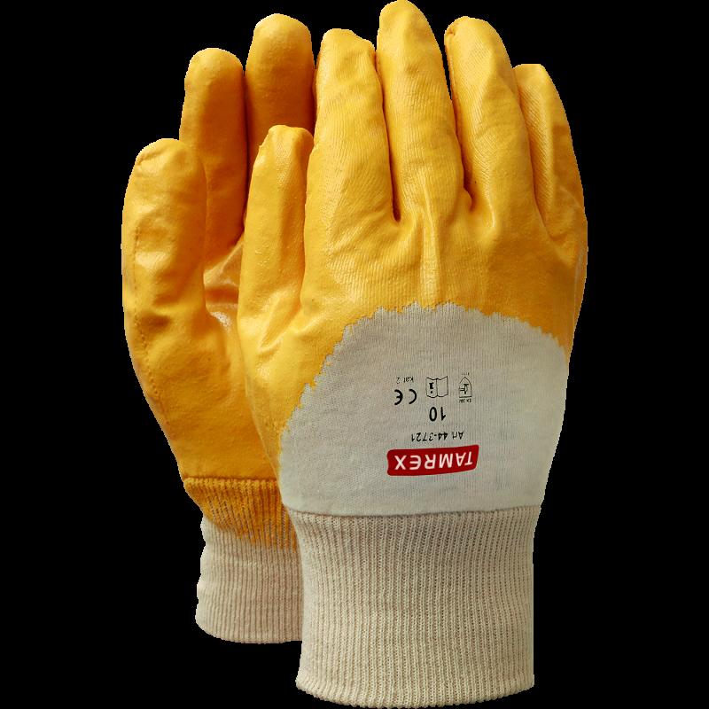 TAMREX рабочие перчатки из свиной кожи с Hi-Vis на тыльной стороне ладони