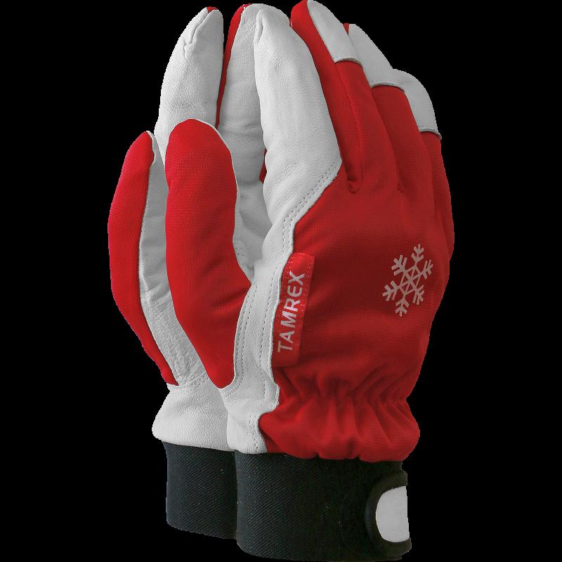 TAMREX зимние рабочие перчатки из кожи буйвола с Hi-Vis на тыльной стороне ладони