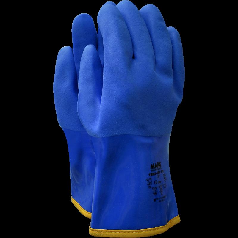 MAPA Superfood 165 синие латексные хозяйственные перчатки