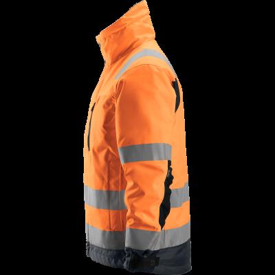 SNICKERS Workwear FlexiWork Hi-Vis darbiniai šortai su kabančiomis kišenėmis, klasė 1