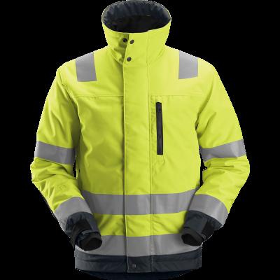 SNICKERS Workwear LiteWork Hi-Vis darbinės pusilgės kelnės su kabančiomis kišenėmis, klasė 2