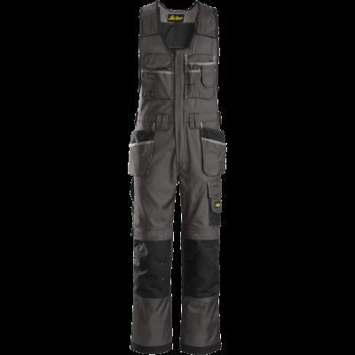 SNICKERS Workwear DuraTwill puskombinezons ar nokarenām kabatām