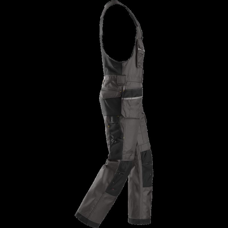 SNICKERS Workwear Canvas+ puskombinezons ar nokarenām kabatām