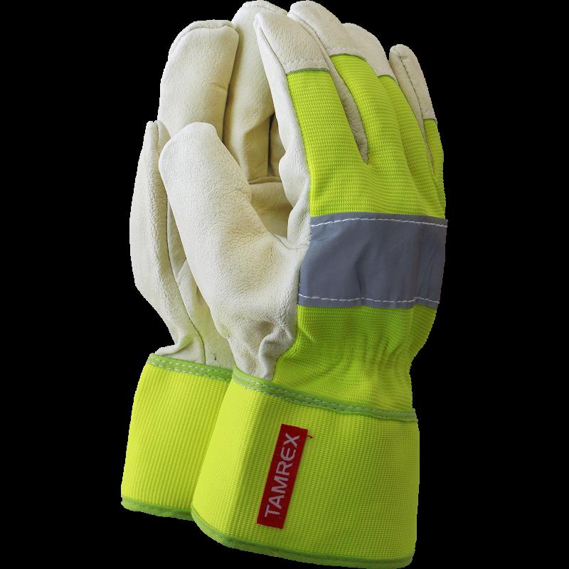 TAMREX WonderGrip Comfort рабочие перчатки с латексным покрытием и Hi-Vis на тыльной стороне ладони